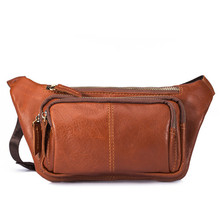 Mens leather bags, ladies crazy multifunctional waist bag fashion sports 8179
