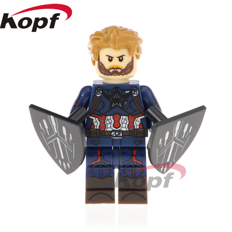 Single Sale Super Heroes Captain America Scarlet Witch Vision Collector Bricks Action Building Blocks Children Gift Toys XH 876 single sale building blocks super heroes imperial death trooper star wars bricks action collection toys for children gift pg656