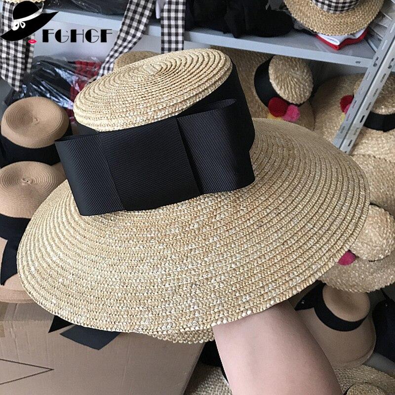 Women Summer Holiday Floppy Straw Hat Wide Brim Beach Hat Sun Visor Cap New