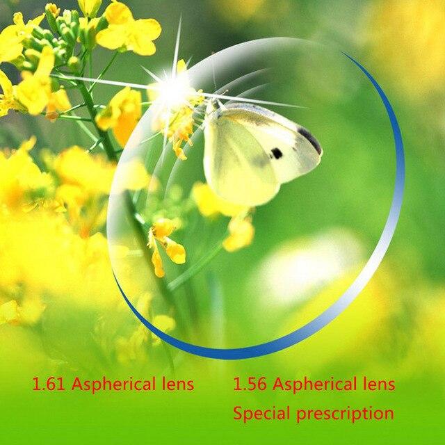 Настроить Рецепту Близорукость Очки Для Чтения Объектив преломления 1.61 Apherical линзы С Зеленым Покрытием Анти-излучения Линзы