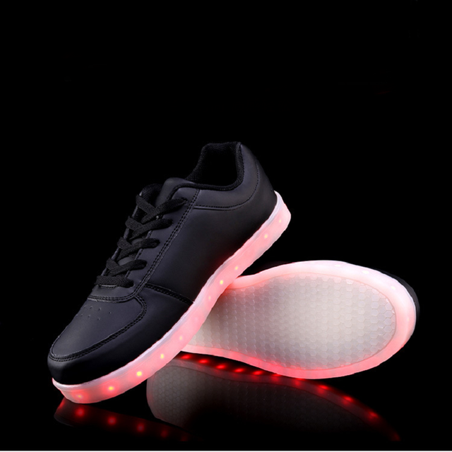 New LED Colorful Luminous Shoes Couple Models Korean Version Tide Men And Women Board Shoes USB Charging Shoes