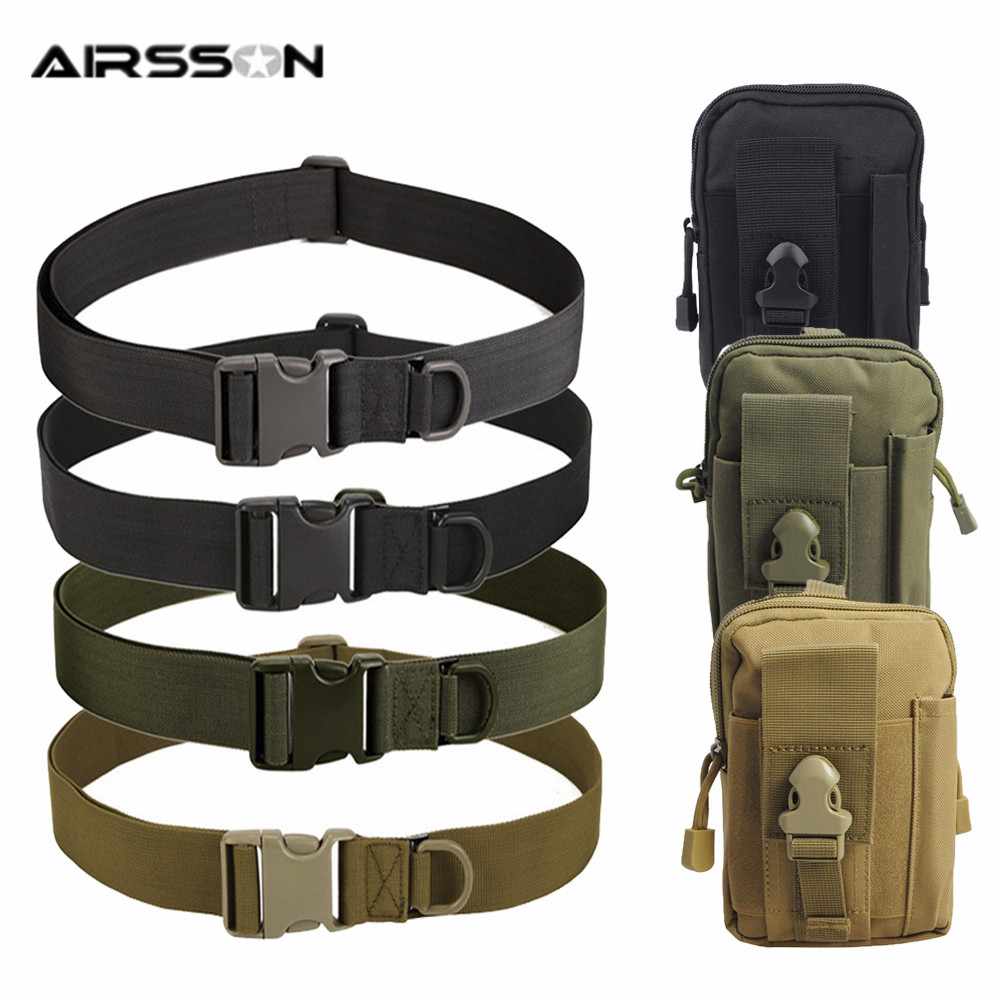 Mens Military Tactical Gun Belt Buckle Combat Waistband Adjustable USA 2 PACK