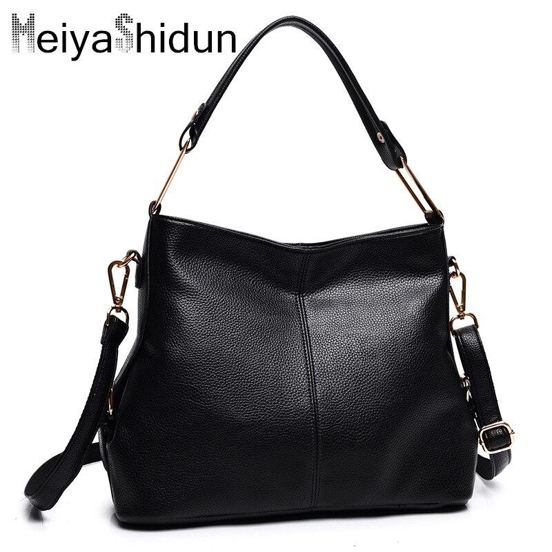 ФОТО MeiyaShidun Bolsos Mujer Casual Tote Women Shoulder Bags pu Leather Women Bags Designer Brand Female Handbags Crossbody Bags Sac
