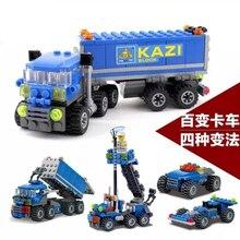 Original KAZI Enlighten 6409 Building Block Sets Child Educational Toys Dumper Truck DIY Bricks Toy Children Toys Christmas Gift