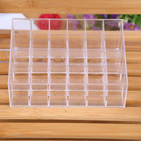 Hot Sale Free Shipping 24 Trapezoid Clear Jewelry Box Fit Makeup Jewelry Display Lipstick Case Organizer