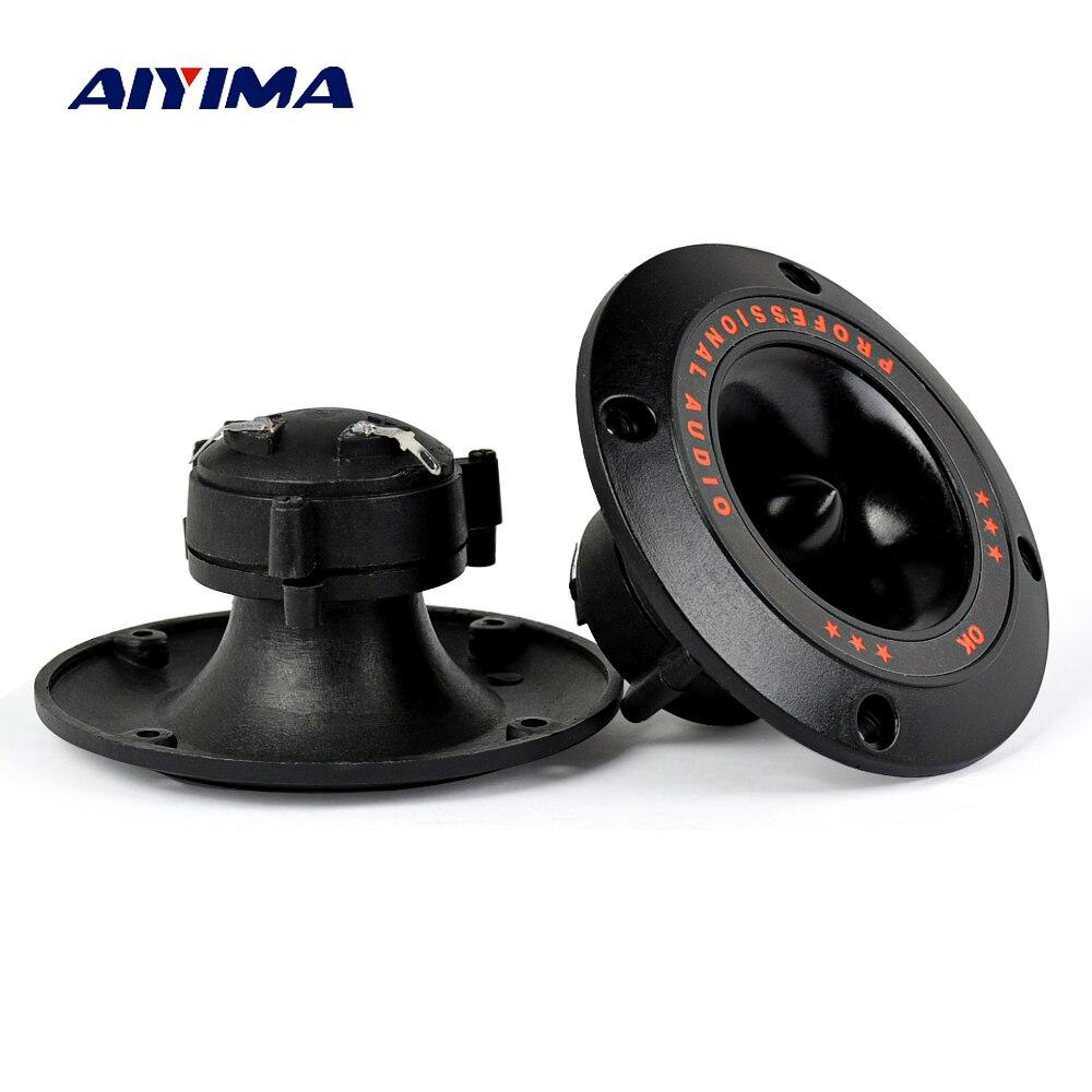 Aiyima 2PC 4Inch Piezoelectric Tweeter Audio Speaker 50W Treble Ceramic Piezo Loudspeaker For Subwoofer Speaker Stage Sound DIY aiyima 2pc 3inch waterproof speaker 8ohm 5w square loudspeaker transparent diaphragm audio speaker diy