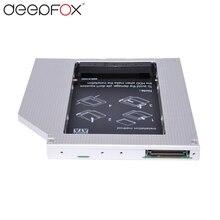 """Deepfox nueva 12.7mm aleación de aluminio universal segundo hdd caddy ide a sata 2.5 """"HDD SSD Caso DVD/CD-ROM Bay Óptico Para El Ordenador Portátil"""