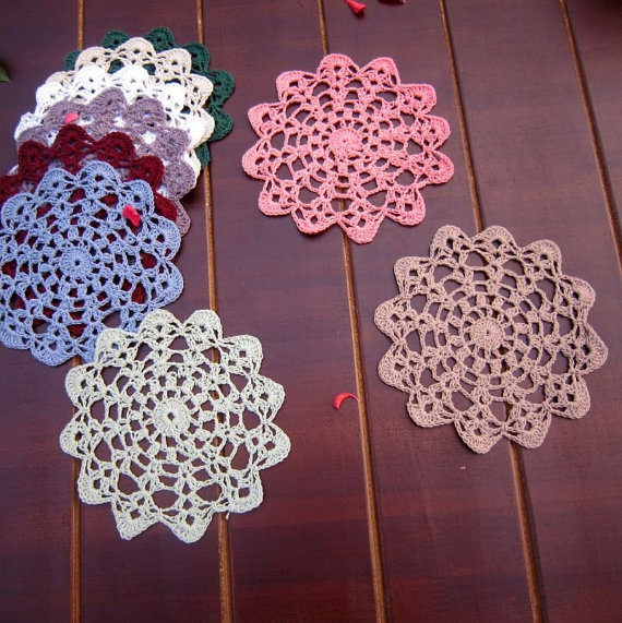 12 Pcs Colorful Round Doily For Deamcatcher Dimeter 12cm Round