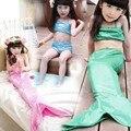 Girl Mermaid Tail Swimmable Monofin Capable Sea-maid Fantasia Princess Bikini Swimwear Beach Kids Children Dress maillot de bain