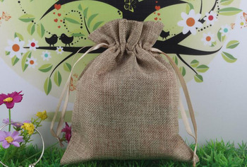 10*15 120pcs Jute Drawstring Sacks gift bags with jewelry/Accessories/Cosmetic/wedding/christmas Linen pouch Packaging Bag