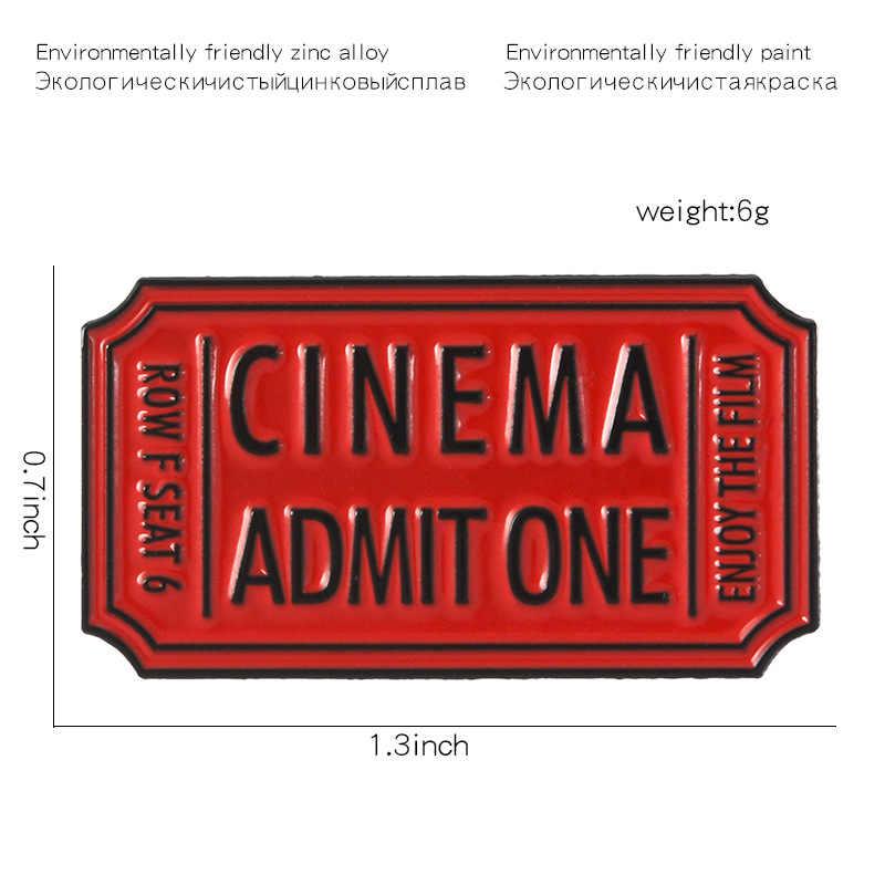 2019 Movie Film Ticket Emaille Pins Cinema Toegeven Een knop Badges lichtmetalen Broches shirt tas Punk Cool Sieraden trinket voor vrienden