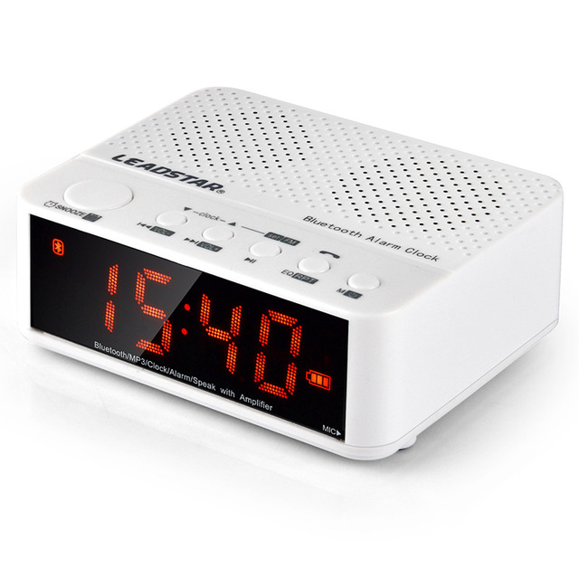 wireless office speakers. 2016 New Wireless Clock Alarm Bluetooth Speakers Mini Audio Card Radio Office Sound Sleep Music