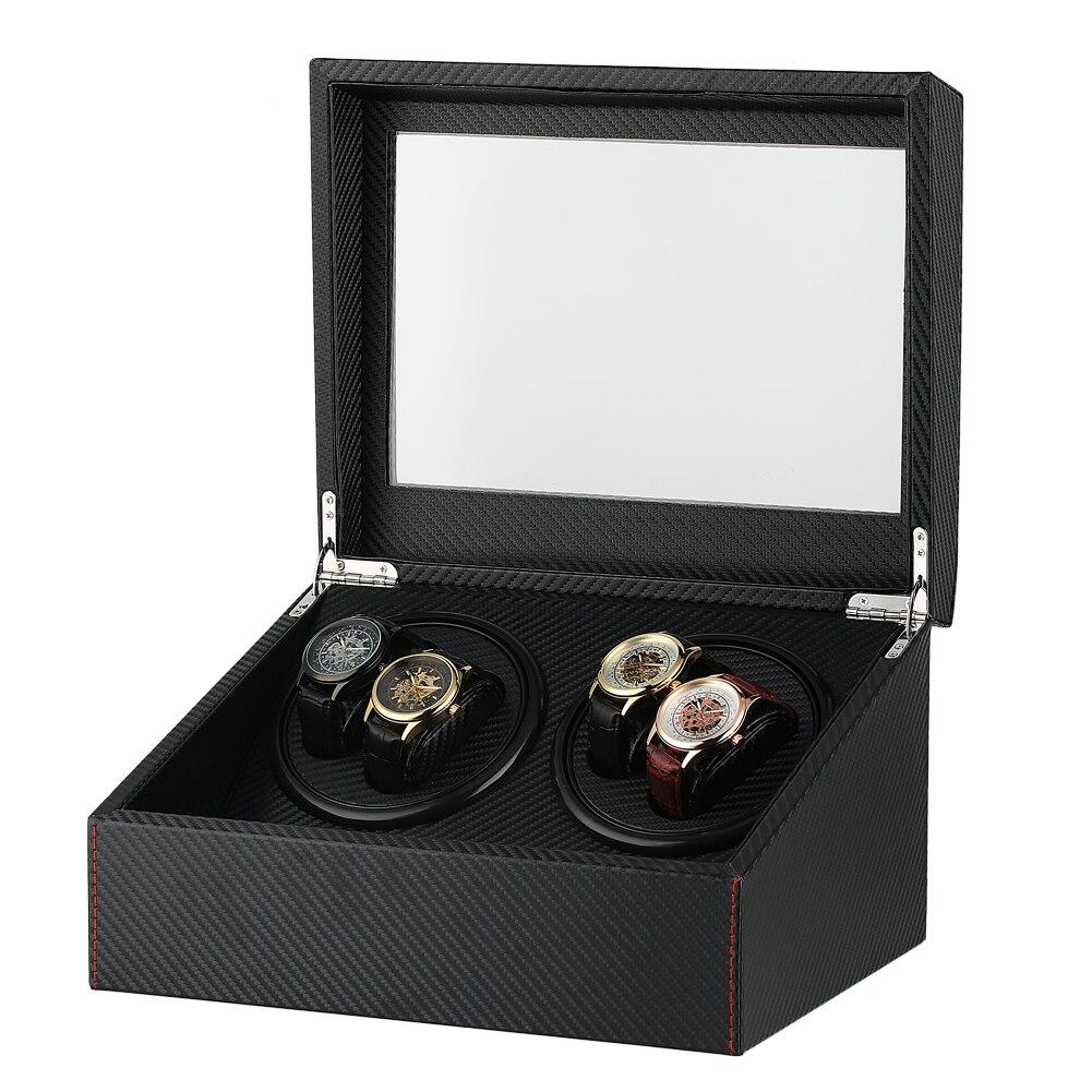 Boîte de remontoir de montre de haute classe pour porte-remontoir de montre mécanique automatique affichage mallette de rangement moteur Shaker UK/US/AU/EU
