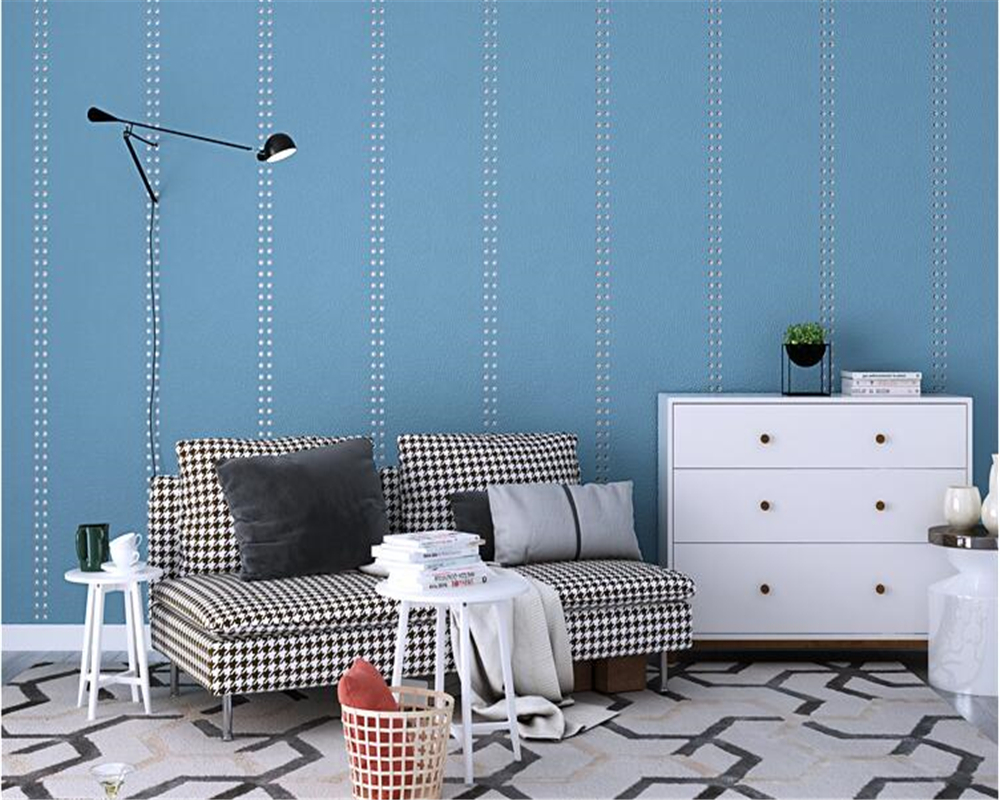 beibehang Living room wall soft rivet wall paper Nordic plain non-woven suede sofa TV background papel de parede 3d wallpaper beibehang nordic wallpaper nonwovens pure paper butterfly flying papel de parede wall paper living room sofa bedroom background