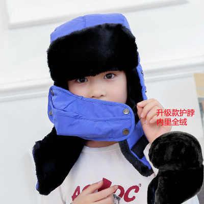 Зимние теплые наушники шапки-ушанки Шарф детский русский Охотник теплая шапка Trooper Earflap Снежная Лыжная шапка с маска для лица