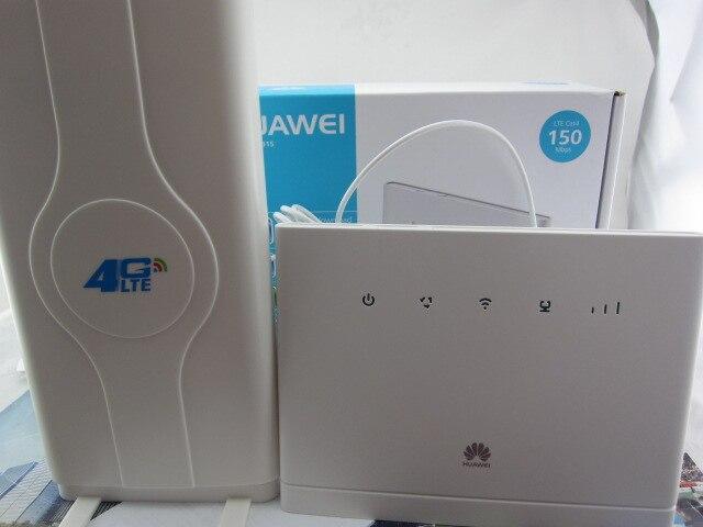 Conjunto de desbloquear huawei b315, huawei 4g portátil roteador sem fio huawei b315s-22 lte wifi router + 49dbi 4g sma antena