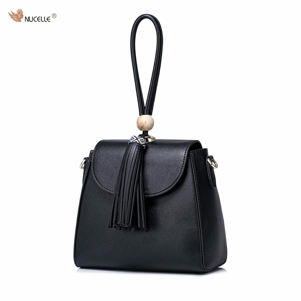 2017 NUCELLE Brand New Design Women's Fashion PU Leather Girls Ladies Handbag With Tassels Shoulder Crossbody Mini Flap Bags
