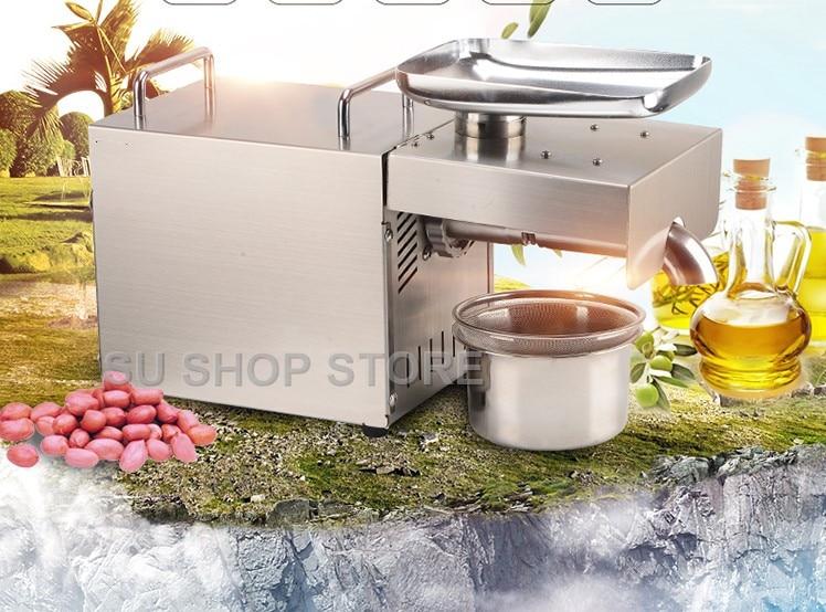 Machine automatique de presse à huile de 1500 W 110 V/220 Vautomatic, maison de presseur d'huile, extracteur d'huile de graine d'acier inoxydable, Mini machine froide de presse à huile chaude