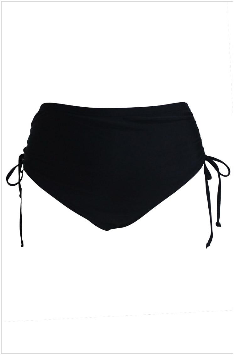 a810794dab US $23.72 |Women Bikini Bottoms Black High Waist Side Ruched Swim Bottoms  Summer Beach Shorts Swimwear Plus Size XL 5XL-in Two-Piece Separates from  ...