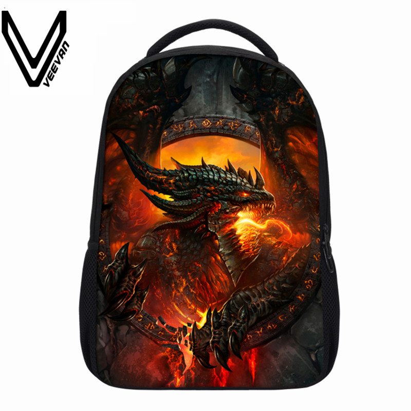 VEEVANV Brand School Backpacks Children Shoulder Bags Dragon Pattern Printing Backpack Fashion Mochila Boys Casual Daily Bag New veevanv brand school backpacks children shoulder bags dragon pattern printing backpack fashion mochila boys casual daily bag new