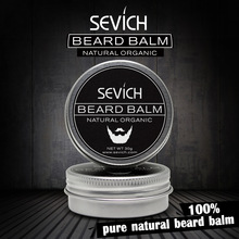 Sevich Natural Beard Conditioner Professzionális szakálla balzsam a szakállas növekedéshez Organic Mustache Wax for Beard Smooth Styling