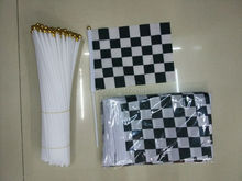 Formula Formula 14 * 21CM free shipping black and white checkered flag. Racing Flags