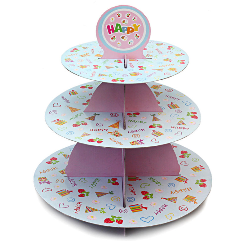 3Tier Cardboard Paper Cupcake Cake Stand Plate Display Holder Tray Muffin Dessert Decorator Wedding Birthday Party Decoration 46-in Cake Decorating Supplies ...  sc 1 st  AliExpress.com & 3Tier Cardboard Paper Cupcake Cake Stand Plate Display Holder Tray ...