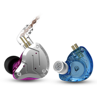 New KZ ZS10 Pro Metal Headset 4BA+1DD Hybrid 10 Units HIFI Bass Earbuds In Ear Monitor Sport Noise Cancelling Earphones ZHIYIKE