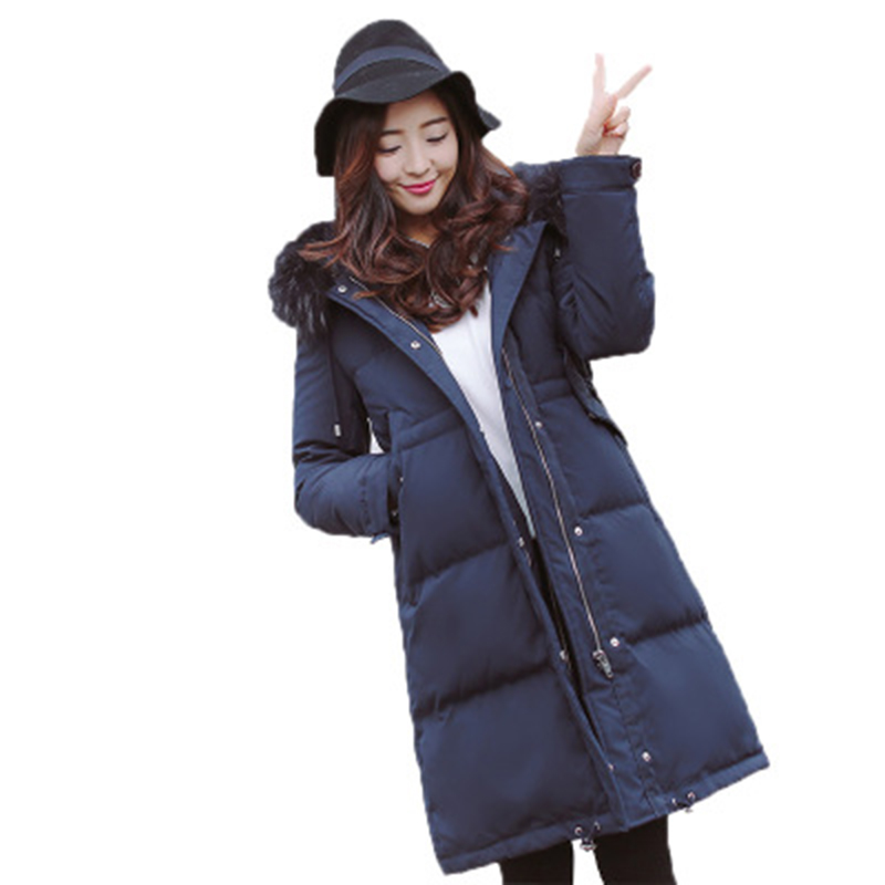 90% White Duck   Down   Jackets Women Long Big Fur Hooded Thicken   Down   Overcoats Female Casual   Down     Coats   Winter Outwear   Down   FP1610