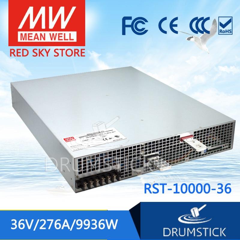 100% Original MEAN WELL RST-10000-36 36V 276A meanwell RST-10000 36V 9936W Single Output Power Supply цены онлайн