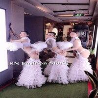 DC67 Gogo бальных танцев костюмы пикантные женские шоу на сцене платья подиума вечерние бар клуб Производительность dj носит одежду бюстгальтер