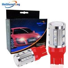 2x W21/5W T20 7443 LED Red 12V Cree Chip 12SMD 5730 Auto Turn Signal Lamp Car 7440 w21w LED Bulbs Brake Reverse Lights цена