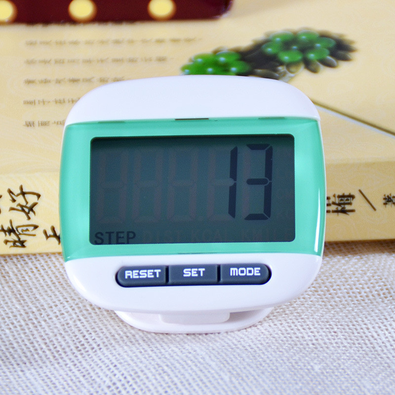 1 pcs Green Mini LCD Pedometer Calorie Walking Distance font b Calculation b font Digital Counter