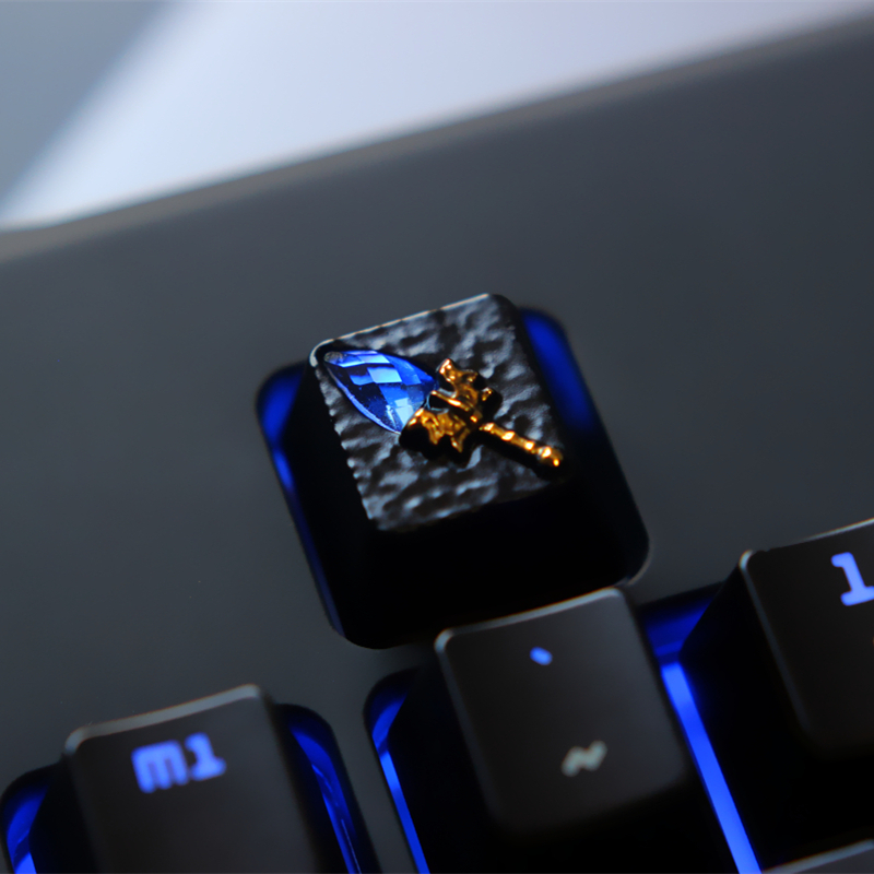 1pc Zinc Aluminium Alloy Key Cap Mechanical Keyboard keycap for Dota 2 Aghanim's Scepter R4 Height Stereoscopic relief