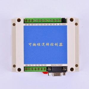Image 1 - PLC FX2N 10MT STM32 MCU 6 المدخلات 4 الترانزستور الناتج 2 AD وحدة 0 10 فولت المدمج في البطارية RTC وحدة تحكم المحرك تيار مستمر 24 فولت الضميمة