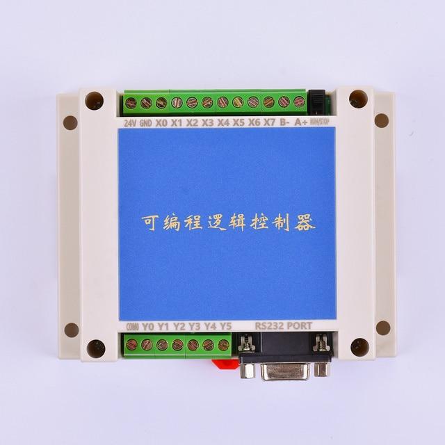 PLC FX2N 10MT STM32 MCU 6 المدخلات 4 الترانزستور الناتج 2 AD وحدة 0 10 فولت المدمج في البطارية RTC وحدة تحكم المحرك تيار مستمر 24 فولت الضميمة