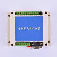 PLC FX2N 10MT STM32 MCU 6 eingang 4 transistor ausgang 2 AD modul 0 10v gebaut in batterie RTC motor controller DC 24V gehäuse
