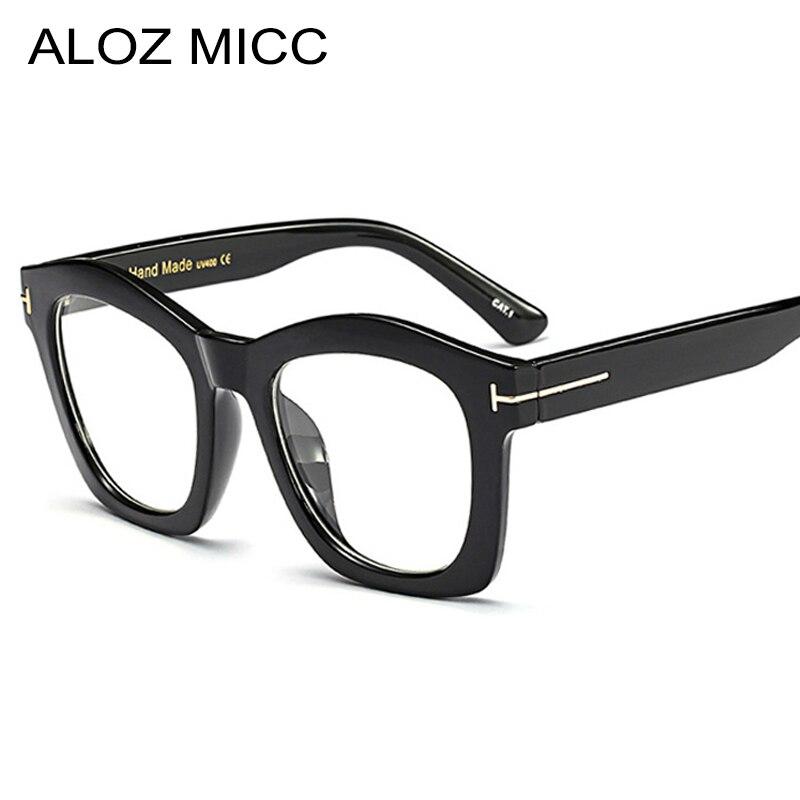 Ehrlich Aloz Micc Mode Elegante Frauen Platz Gläser Rahmen Designer Männer Optische Rahmen Hohe Qualität Dame Stil Brillen Q297 Herren-brillen Bekleidung Zubehör