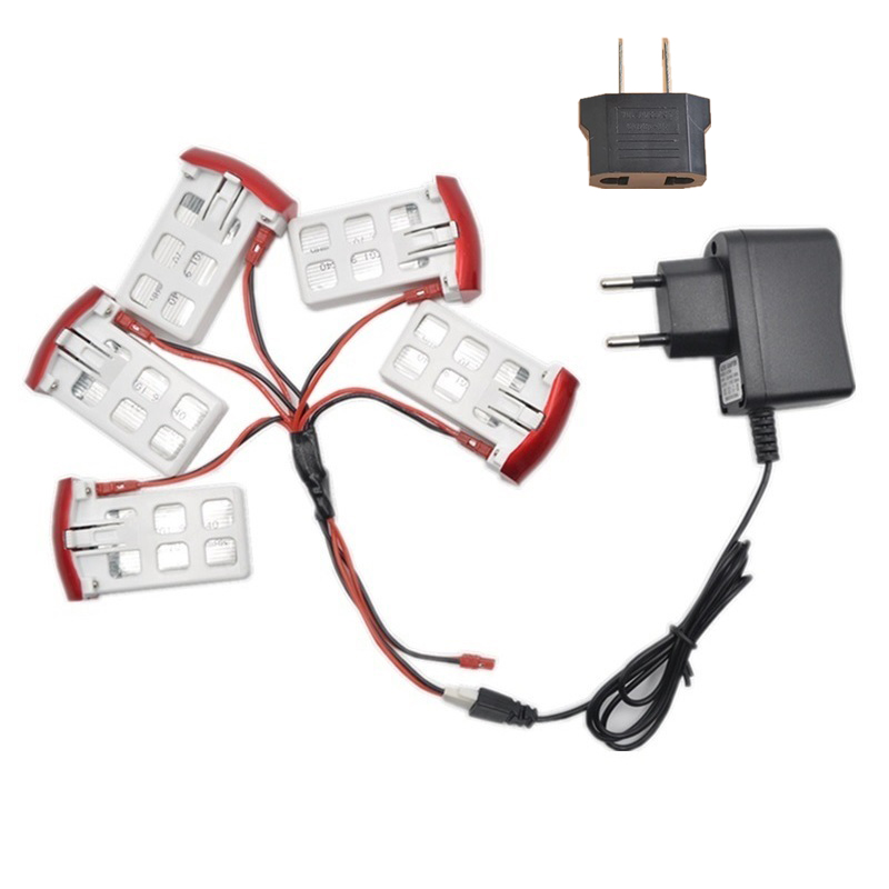 Syma X5UW X5UC RC Helicopter Battery Spare Parts 3.7V 850 mAh Battery +US EU AC Charger+ ...