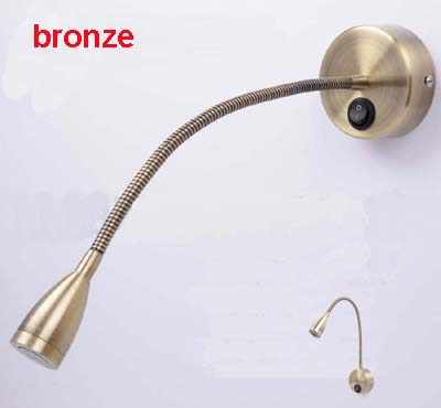 3W 110V/220V Bronze Finished Retro Led Flexible Pipe Wall Lights