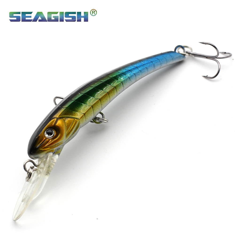 Free shipping 2016 fishing lures 9cm 6g 4colors hooks hard for How to ship fish
