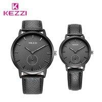 Free Shipping Kezzi Men Women Watch K1582 Quartz Analog Leather Dress Wristwatches Gift FashionClassic Casual Waterproof