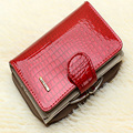 Новый шаблон Неподдельной кожи женщин короткий дизайн бумажник моды классические крокодил картина кошелек женский Кошельки Теплые 3 Цветов