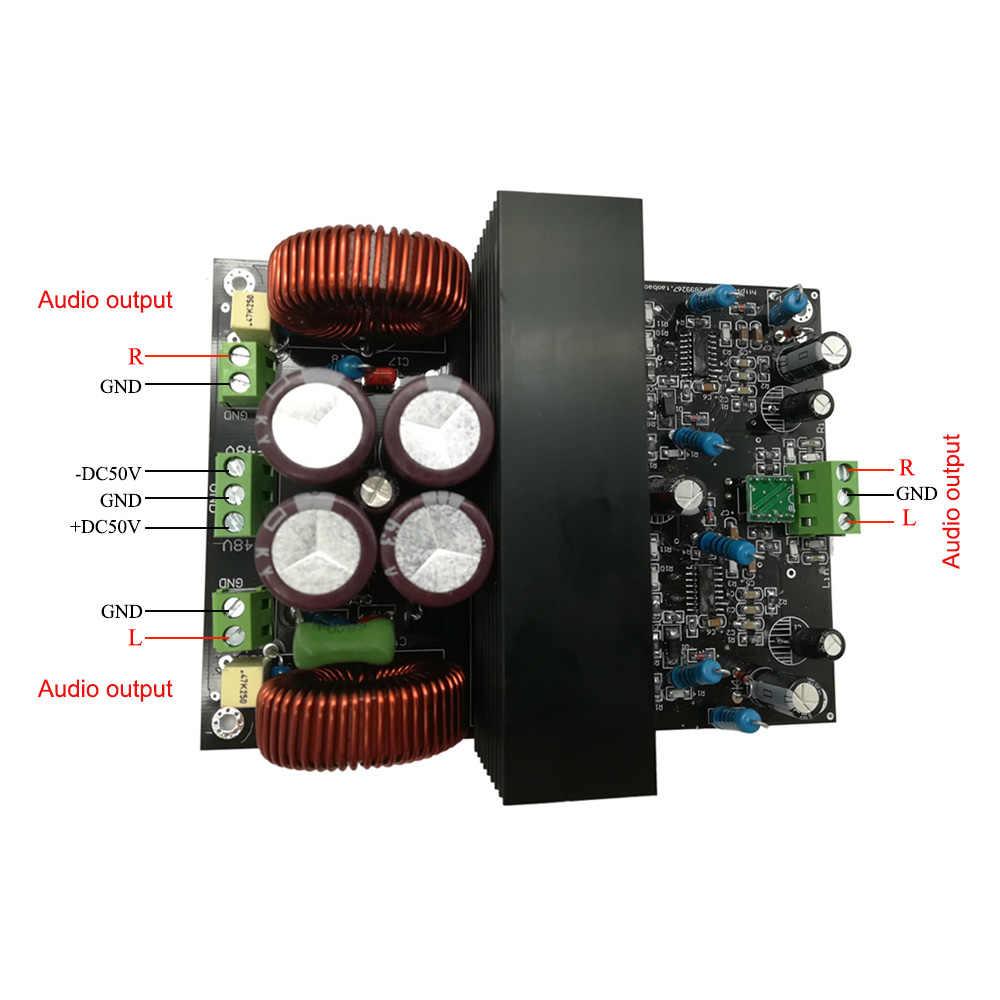 IRS2092 высокое Мощность 2*600 Вт/4ohm 2*300 W/8ohm класса D двухканальный датчик board в собранном виде B7-007