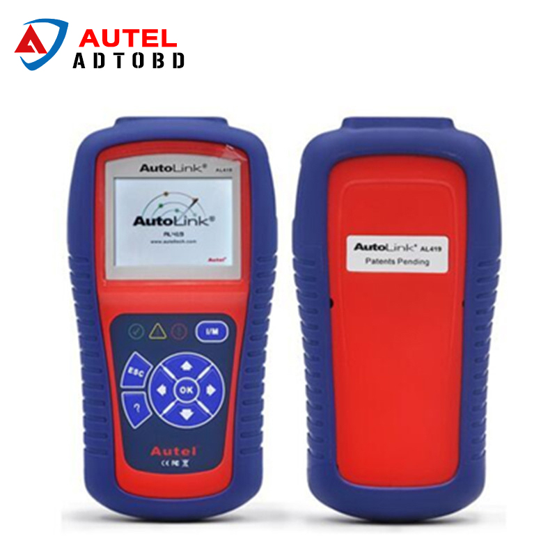2017 100% Original Autel AutoLink AL419 OBD II & CAN Code Reader Auto Link AL-419 Update Official Website DHL Free Shipping 100% original autel maxidiag elite md701 all system ds model obdii auto code reader md 701 for japanese cars