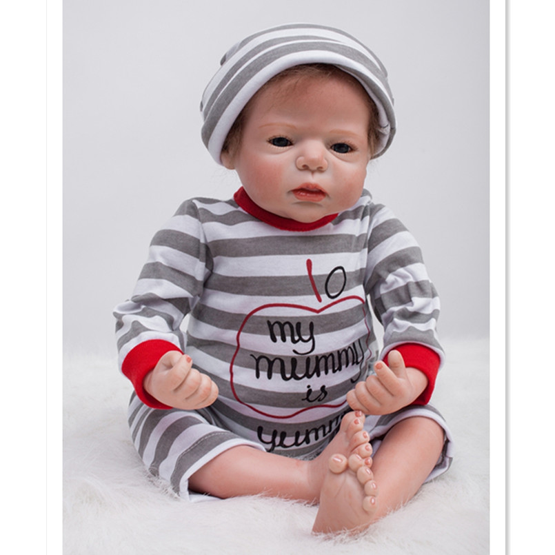 Realistic Reborn Doll Silicone Baby Dolls with Clothes,19 Inch Real Reborn Babies Bonecas Newborn Toys for Girls Gifts 45 cm silicone reborn babies dolls for girls toys lifelike newborn baby bonecas with clothes reborn silicone babies for sale