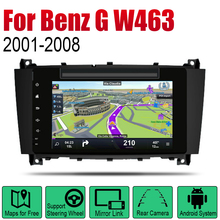 Android 2 Din Auto Radio DVD For Mercedes Benz G Class W463 2001~2008 NTG Car Multimedia Player GPS Navigation System Radio seicane car optical fiber decoder most box bose for 2001 2008 mercedes benz g class w463 g550 g500 harmon kardon audio converter