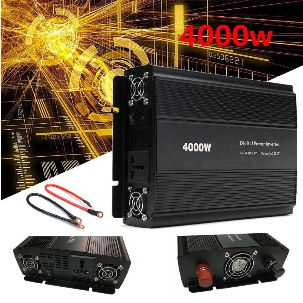 Car Inverter 12V 220V/110V 4000W Power Inverter Peak 8000W voltage transformer Adapter Charger Square Wave Modified Sine Wave
