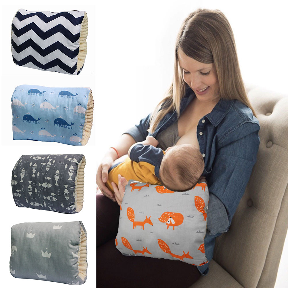 Comfortable Soft Support Baby Newborn Protect Slides On Portable Thicken Mom Cotton Blend Arm Cusion Breastfeeding Pillow
