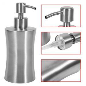 Image 4 - 220/250/400mL Stainless Steel Liquid Soap Dispenser Bathroom Soap Container Pump Lotion Dispenser Bottle Hand Sanitizer Holder